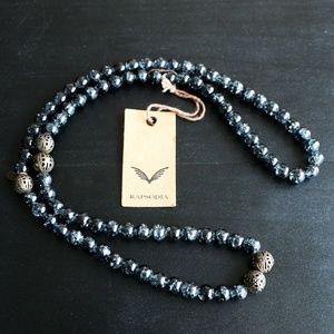 NEW WITH TAGS Rapsodia Long Necklace Pearls Blue
